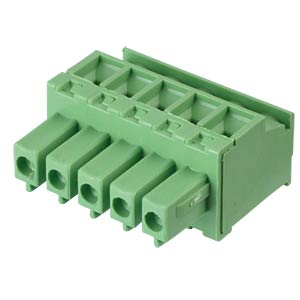 Pluggable screw terminal - 5-pole, contact spacing 3,81 mm, 90° RND CONNECT RND 205-00323