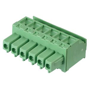 Pluggable screw terminal - 6-pole, contact spacing 3,81 mm, 90° RND CONNECT RND 205-00324