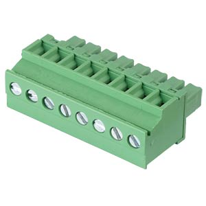 Pluggable screw terminal - 8-pole, contact spacing 3,81 mm, 90° RND CONNECT RND 205-00326