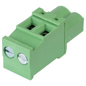 Pluggable screw terminal - 2-pole, contact spacing 5 mm, 90° RND CONNECT RND 205-00331