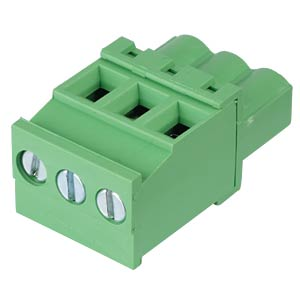 Pluggable screw terminal - 3-pole, contact spacing 5 mm, 90° RND CONNECT RND 205-00332