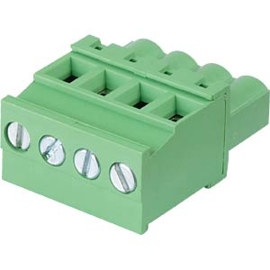 Pluggable screw terminal - 4-pole, contact spacing 5 mm, 90° RND CONNECT RND 205-00333