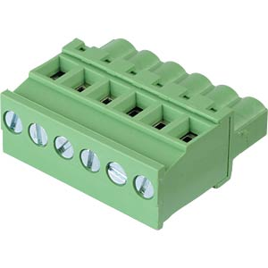 Pluggable screw terminal - 6-pole, contact spacing 5 mm, 90° RND CONNECT RND 205-00335
