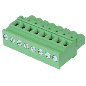 Pluggable screw terminal - 8-pole, contact spacing 5 mm, 90° RND CONNECT RND 205-00337