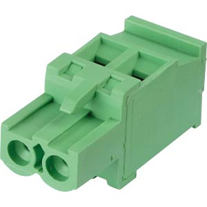 Pluggable screw terminal - 2-pole, contact spacing 5 mm, 90° RND CONNECT RND 205-00342