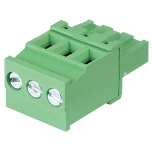 Pluggable screw terminal - 3-pole, contact spacing 5 mm, 90° RND CONNECT RND 205-00343
