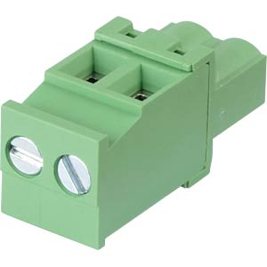 Pluggable screw terminal - 2-pole, contact spacing 5,08 mm, 90° RND CONNECT RND 205-00364