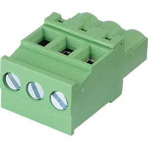 Pluggable screw terminal - 3-pole, contact spacing 5,08 mm, 90° RND CONNECT RND 205-00365