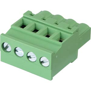 Pluggable screw terminal - 4-pole, contact spacing 5,08 mm, 90° RND CONNECT RND 205-00366