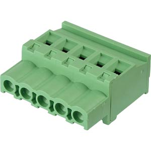 Pluggable screw terminal - 5-pole, contact spacing 5,08 mm, 90° RND CONNECT RND 205-00367