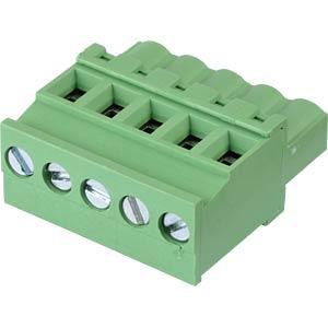 Steckbare Schraubklemme - 5-pol, RM 5,08 mm, 90° RND CONNECT RND 205-00367