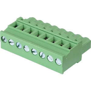 Pluggable screw terminal - 8-pole, contact spacing 5,08 mm, 90° RND CONNECT RND 205-00370