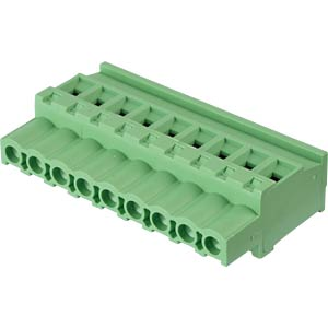 Pluggable screw terminal - 9-pole, contact spacing 5,08 mm, 90° RND CONNECT RND 205-00371