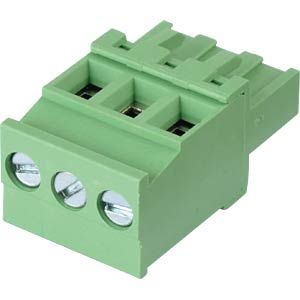 Pluggable screw terminal - 3-pole, contact spacing 5,08 mm, 90° RND CONNECT RND 205-00376