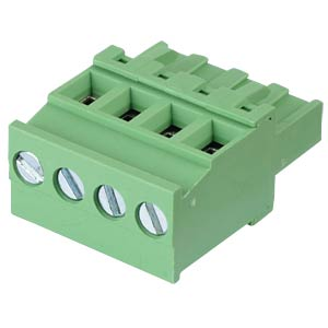 Pluggable screw terminal - 4-pole, contact spacing 5,08 mm, 90° RND CONNECT RND 205-00377