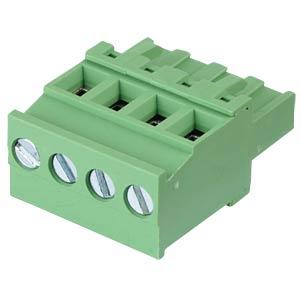Steckbare Schraubklemme - 4-pol, RM 5,08 mm, 90° RND CONNECT RND 205-00377