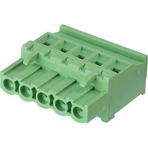 Steckbare Schraubklemme - 5-pol, RM 5,08 mm, 90° RND CONNECT RND 205-00378