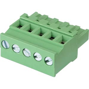Pluggable screw terminal - 5-pole, contact spacing 5,08 mm, 90° RND CONNECT RND 205-00378