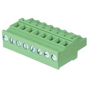 Pluggable screw terminal - 8-pole, contact spacing 5,08 mm, 90° RND CONNECT RND 205-00381