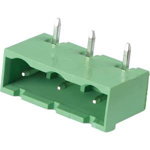 Pin header - 3-pole, contact spacing 7,5 mm, 90° RND CONNECT RND 205-00398