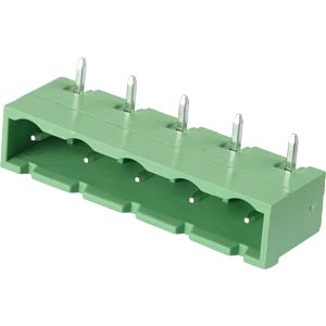 Pin header - 5-pole, contact spacing 7,5 mm, 90° RND CONNECT RND 205-00400