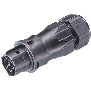 Female connector, 5-pin, with cable gland, 13 - 18 mm WIELAND 96.051.4553.0