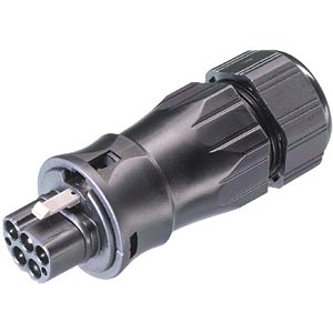Male connector, 5-pin, with cable gland, 13 - 18 mm WIELAND 96.052.4553.1