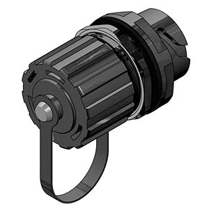 USB-Inlinekupplung, Buchse, Kunststoff CONEC 17-210141