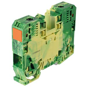 Protective conductor terminal, 2-conductor, 35 mm², green-yellow WAGO 285-137