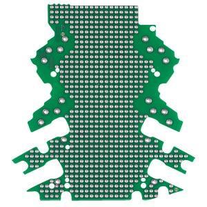 Lochrasterplatine für Leergehäuse der WAGO Serie 2857 WAGO 2857-191/3140-000