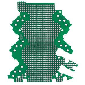 Lochrasterplatine für Leergehäuse der WAGO Serie 2857 WAGO 2857-192/3140-000
