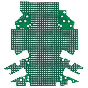 Lochrasterplatine für Leergehäuse der WAGO Serie 2857 WAGO 2857-194/3140-000