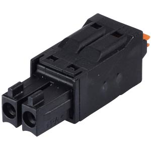 clip connector, 2-pole, RM 3,5 mm, encodable WAGO 714-102