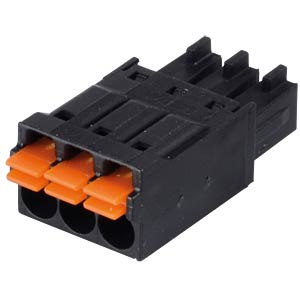 clip connector, 3-pole, RM 3,5 mm, encodable WAGO 714-103