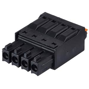 clip connector, 4-pole, RM 3,5 mm, encodable WAGO 714-104