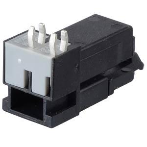 Mini PCB Buchse, für Leiterplatten, 2-pol, gew. WAGO 890-802/011-000