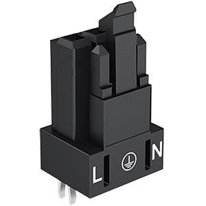 Mini PCB Buchse, für Leiterplatten, 3-pol, gerade WAGO 890-803