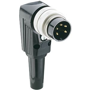 Plug, round connector, angled, IP40, 5-pin LUMBERG WSV 50