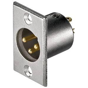 XLR-Einbaustecker - 3-pol, vergoldete Kontakte GOOBAY