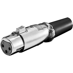 XLR coupler, 3-pin, nickel-plated contacts FREI