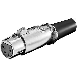 XLR coupler, 4-pin with lock FREI