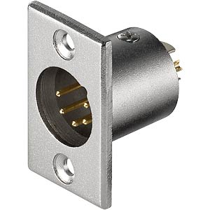 XLR panel connector, 5-pin FREI