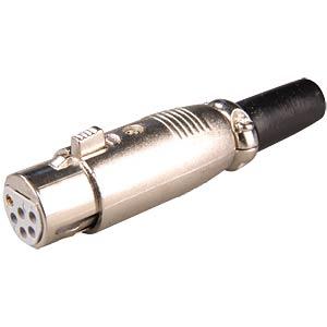 XLR coupler, 6-pin with lock FREI