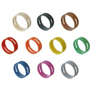 XLR coding ring, marking ring, grey NEUTRIK XXR-8