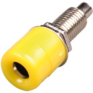 4-mm banana socket, fully insulated, yellow FREI