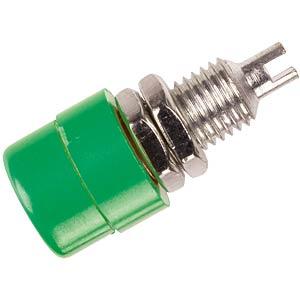 Hirschmann-Einbaubuchse 4mm, vollisoliert, grün HIRSCHMANN TEST & MEASUREMENT 930176104