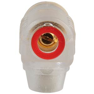 Right-angle banana connector, 4 mm, red ID FREI