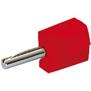 Banana plug, 4 mm, CAGE CLAMP, red WAGO 215-212