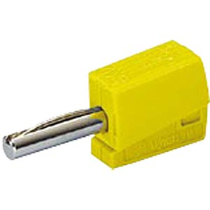 Banana plug, 4 mm, CAGE CLAMP, yellow WAGO 215-511