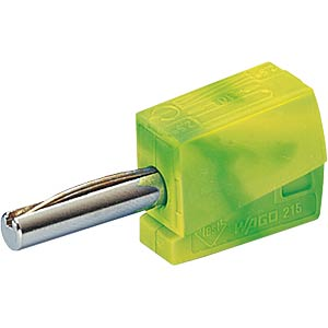 Banana plug, 4 mm, CAGE CLAMP, green-yellow WAGO 215-911